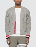 Thom Browne Classic Aran Cable Cardigan Picture