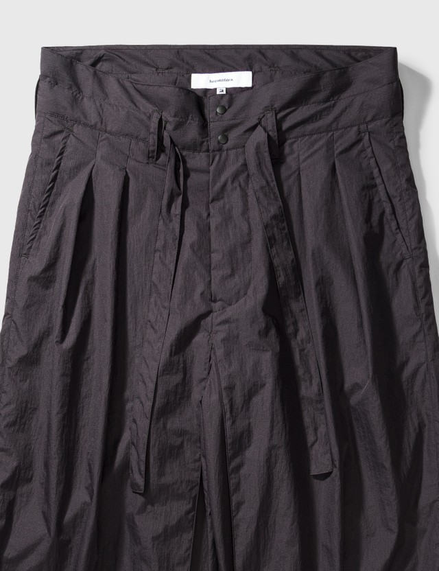 Sasquatchfabrix. Nylon Hakama Pants Black berry Men