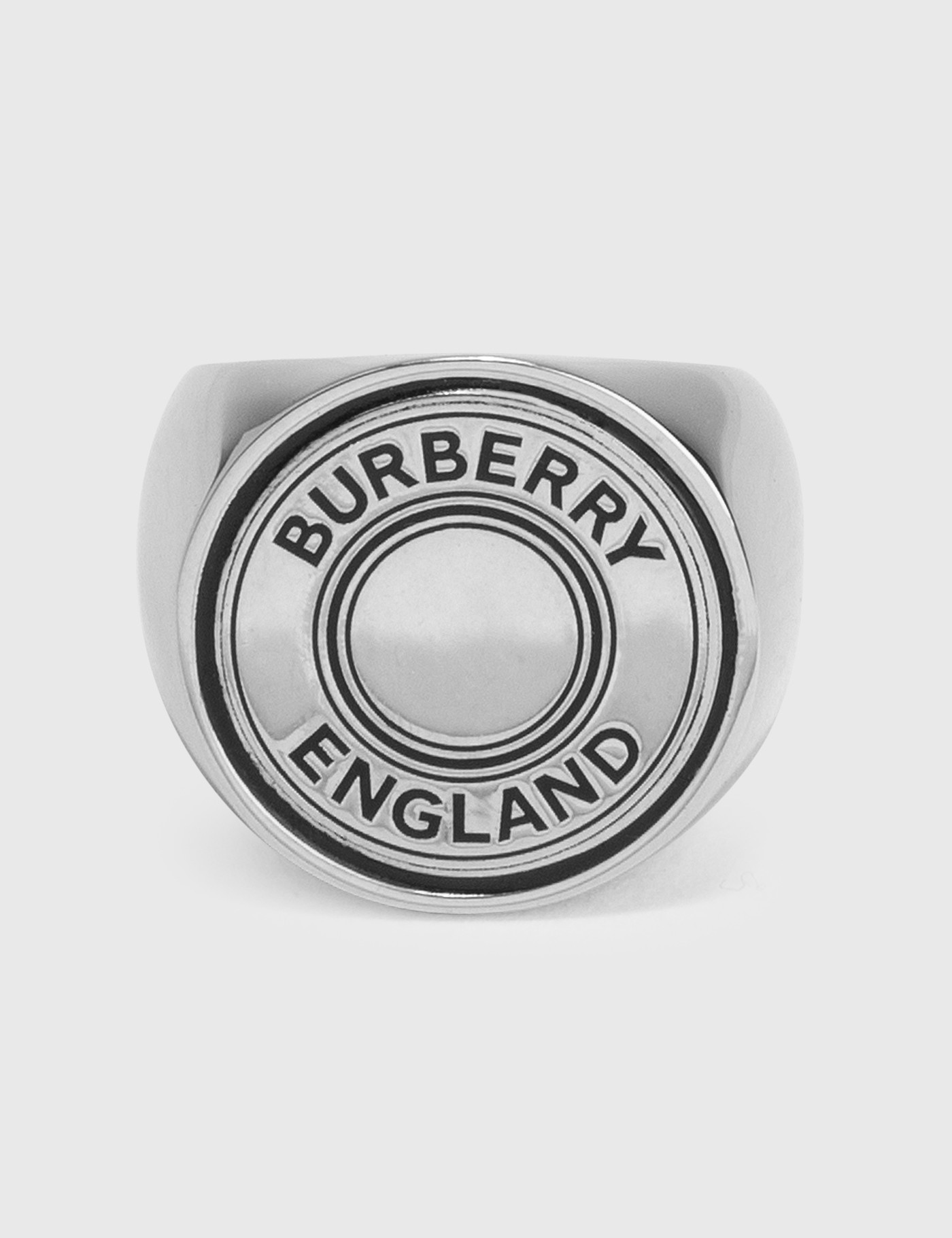 버버리 맨 라운드 로고 반지 Burberry Round Logo Signet Ring
