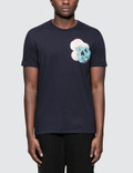 Alexander McQueen S/S T-Shirt with Floral Skull Print On Left Chest Picutre