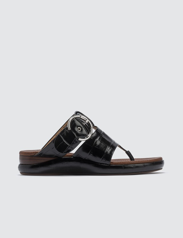 Chloé Wave Flat Mule Black Women