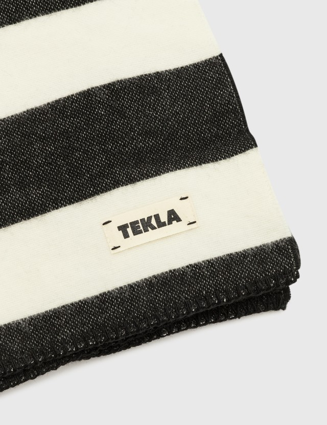 Tekla Pure New Wool Blankets Bold Black Life
