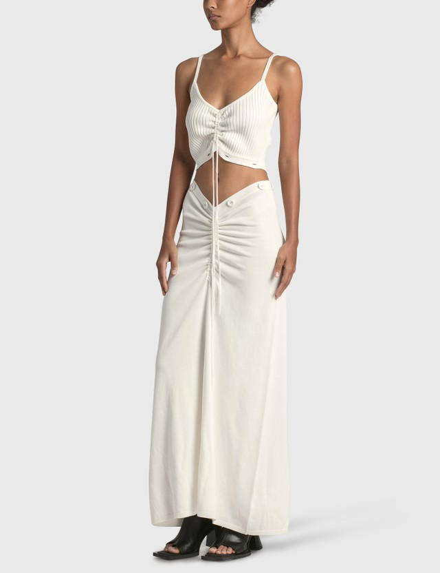 Christopher Esber Ruched Disconnect Knit Cami Dress Natural Women