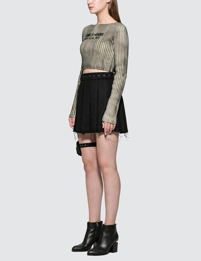 Hyein Seo Wool Skirt With Garter Belt