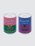 """Ligne Blanche Andy Warhol """"Campbell"""" Porcelain Salt & Pepper Shaker Picture"""