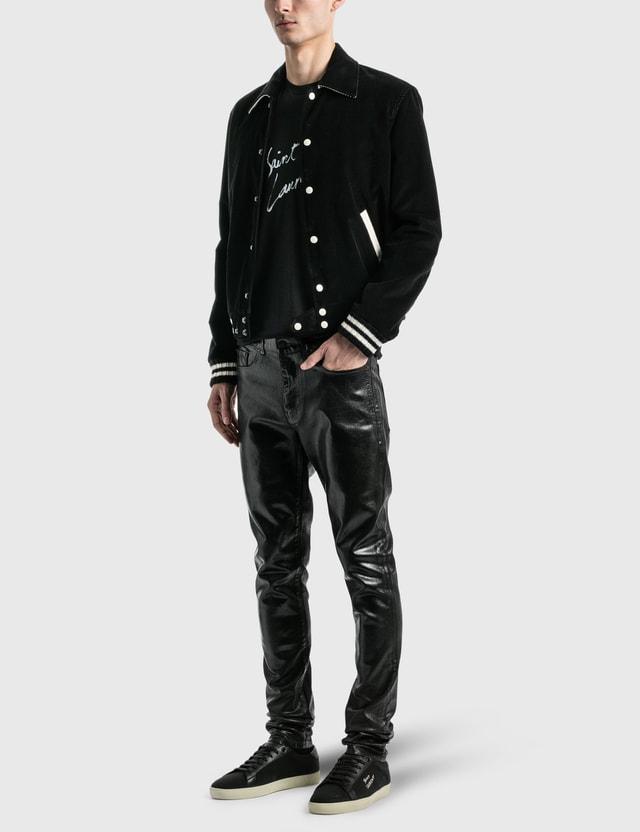 Saint Laurent Teddy Jacket In Corduroy Noir Men