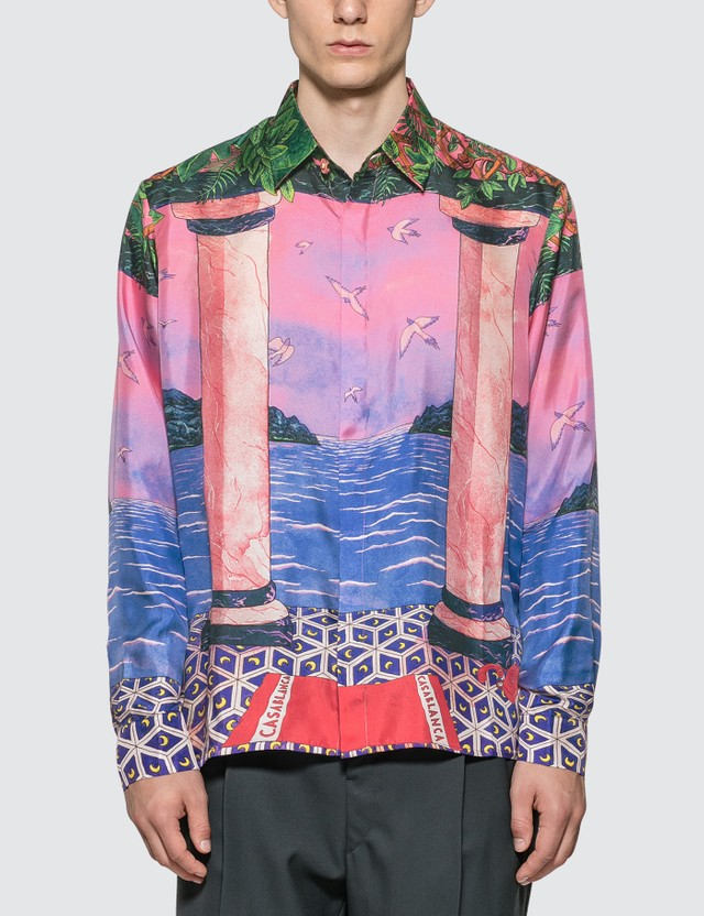 Casablanca Moca Sunset Silk Shirt