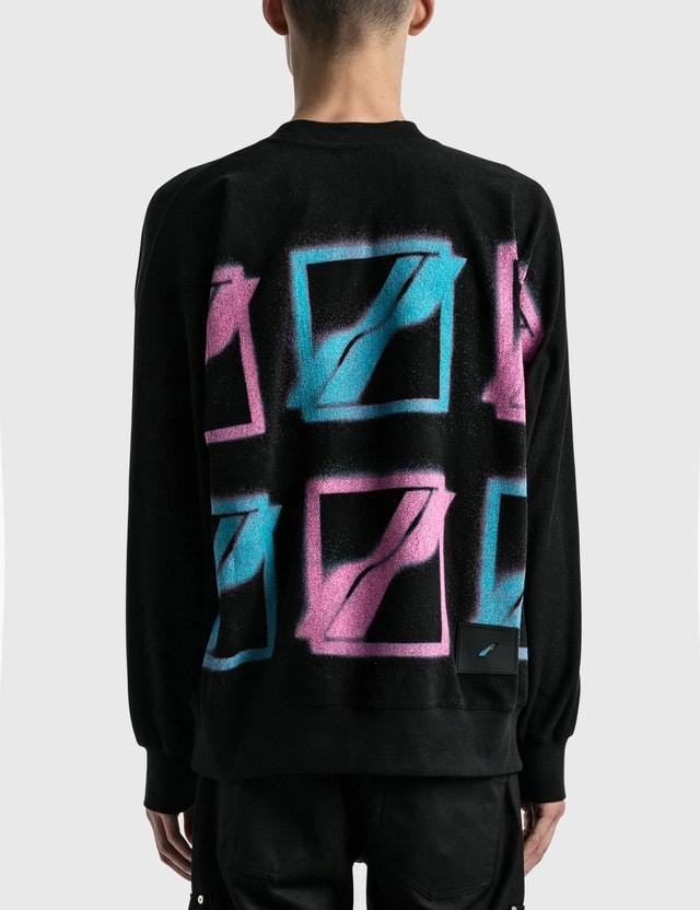 We11done Multi Color Logo Sweatshirt Black Men