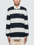 Champion Reverse Weave Stripes Polo Shirt Picture