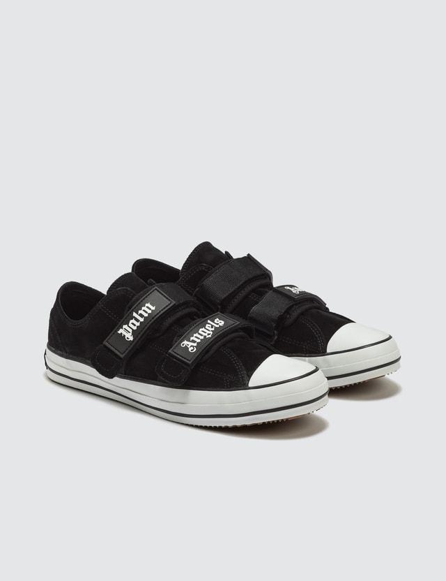 Palm Angels Velcro Vulcanized Sneakers Black White Men