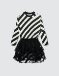 NUNUNU Striped Tulle Dress Picutre