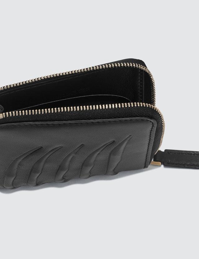 Alexander McQueen Rib Cage Zip Around Wallet