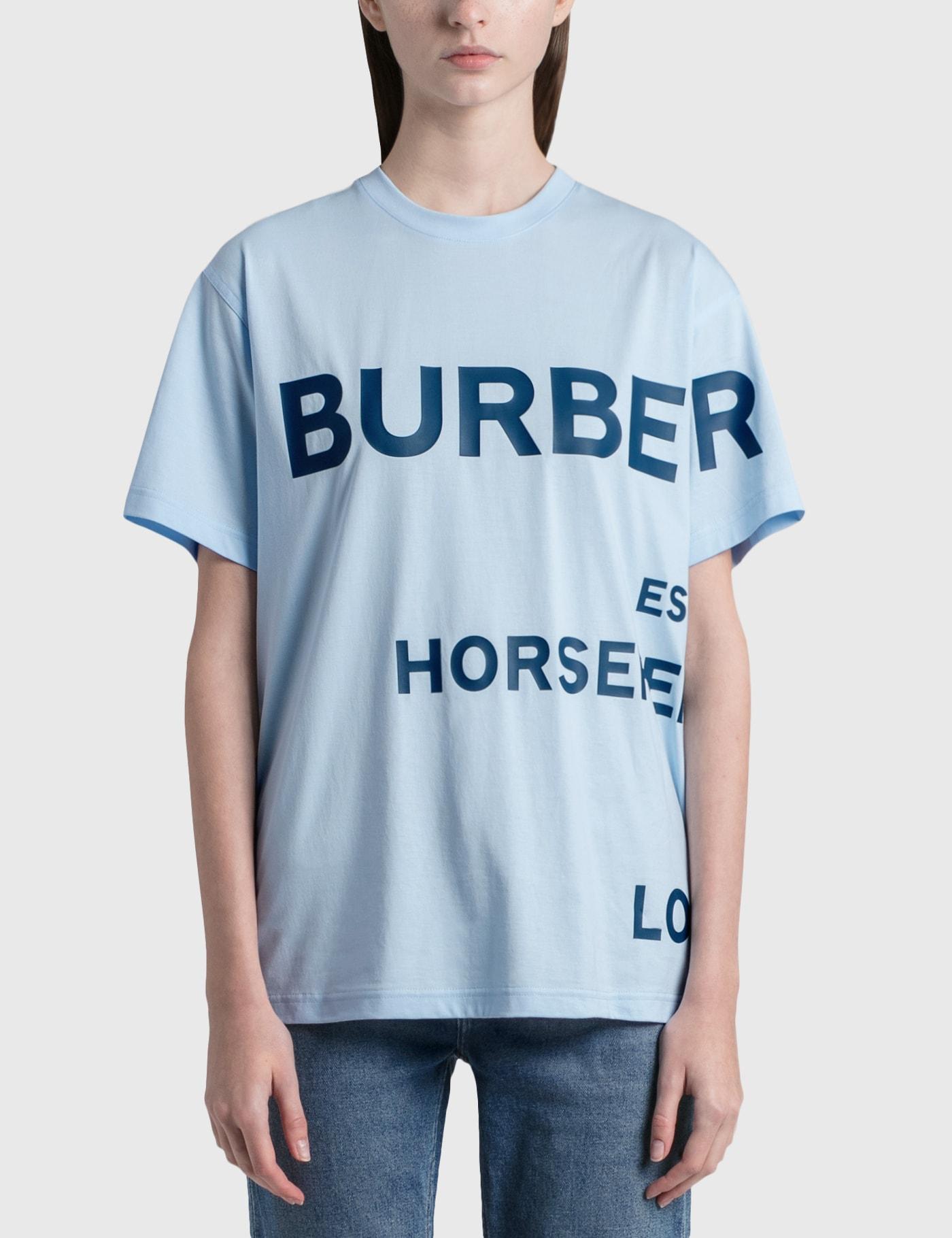 Burberry Cottons HORSEFERRY PRINT COTTON OVERSIZED T-SHIRT