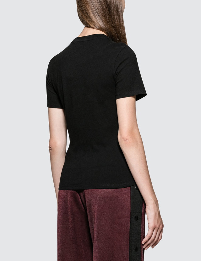 Alexander Wang.T Highwaist Jersey T-Shirt with Twist Front Detail