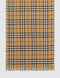 Burberry Vintage Check Lightweight Wool Silk Scarf Antique Yellow Men