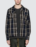 Rhude Plaid Button-Up Twill Overshirt Picutre