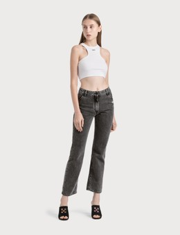 Off-White Cropped Leg Jeans