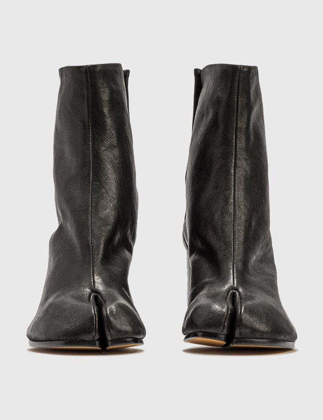 Maison Margiela Tabi Vintage Leather Boots Black Women