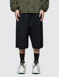 Maison Margiela Drawstring Wool Shorts