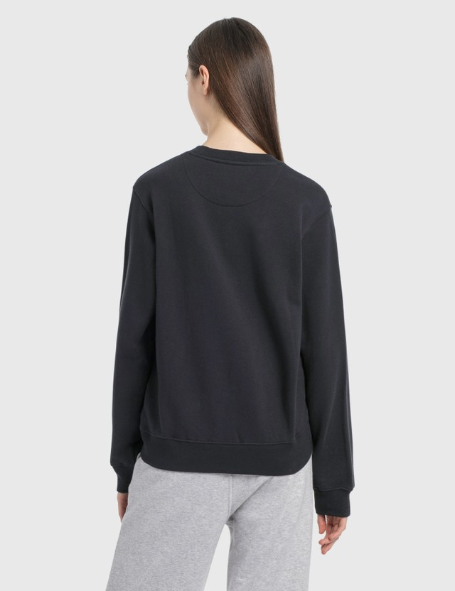 Stussy C Fleece Crew Sweatshirt Black Women