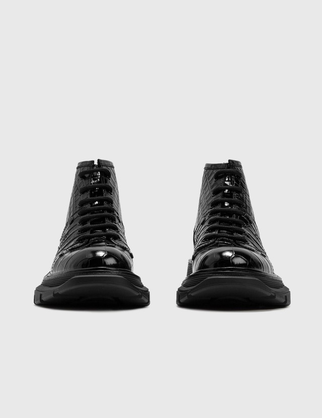 Alexander McQueen Tread Lace-Up Boot Black/black/black Women
