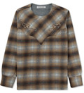EOTOTO Brown Western Pullover Check Shirt Picture