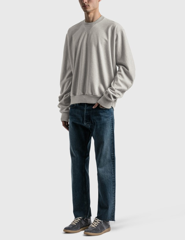 Maison Margiela Baggy Sleeve Sweatshirt Grey Melange Men