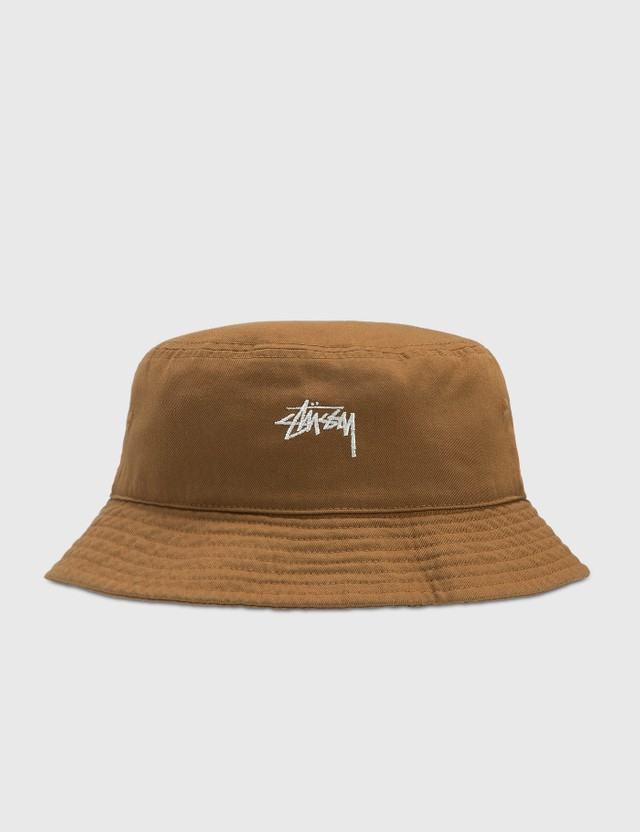 Stussy Stock Bucket Hat Khaki Women