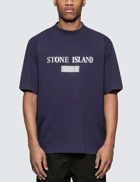 스톤 아일랜드 19 S/S 텍스트로고 반팔 티셔츠 네이비 Stone Island S/S T-Shirt