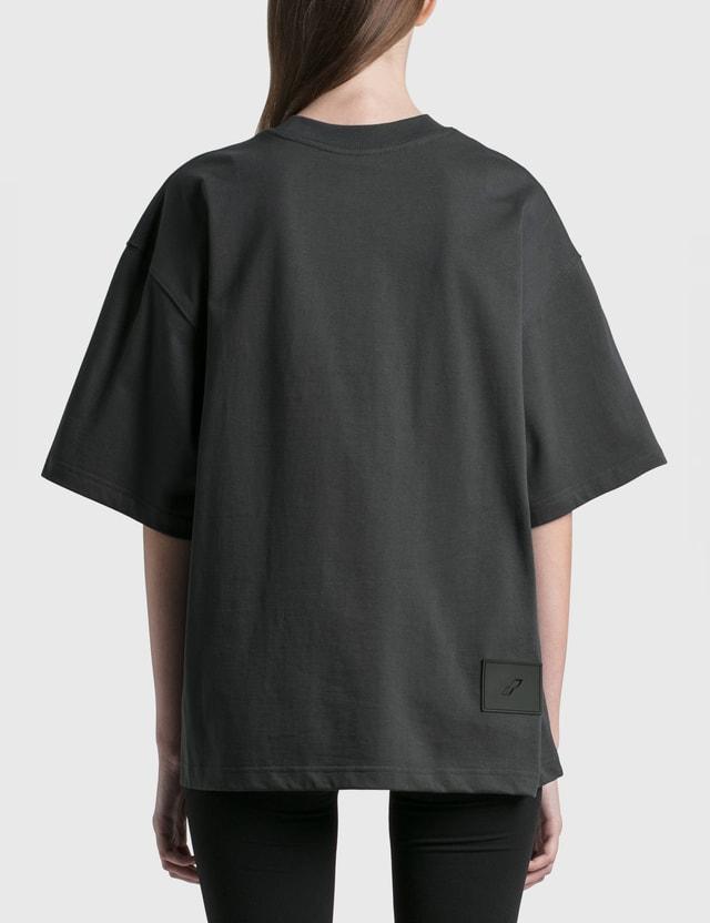 We11done Mirror Logo T-shirt Charcoal Women