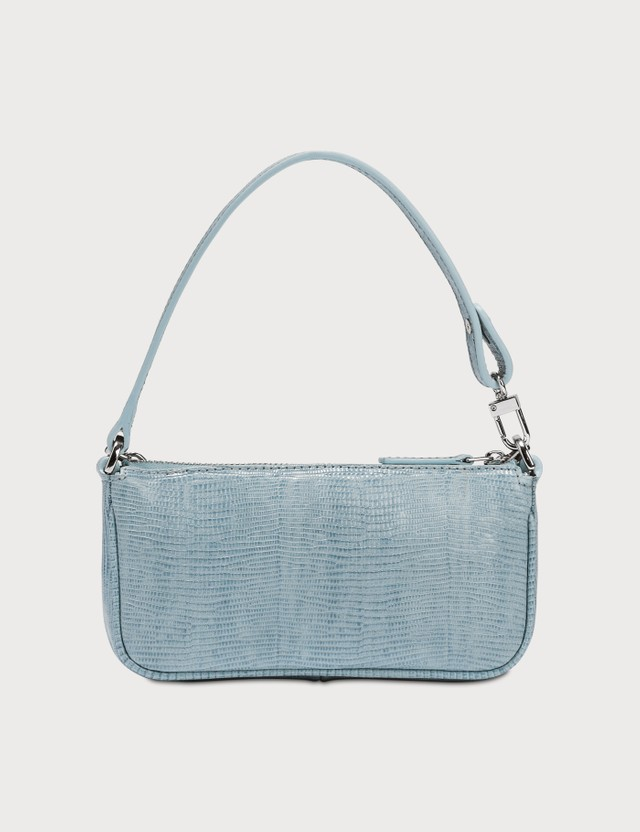 BY FAR Mini Rachel Lizard Embossed Leather Bag