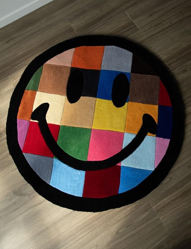 Chinatown Market Smiley Color Tile Rug 4FT