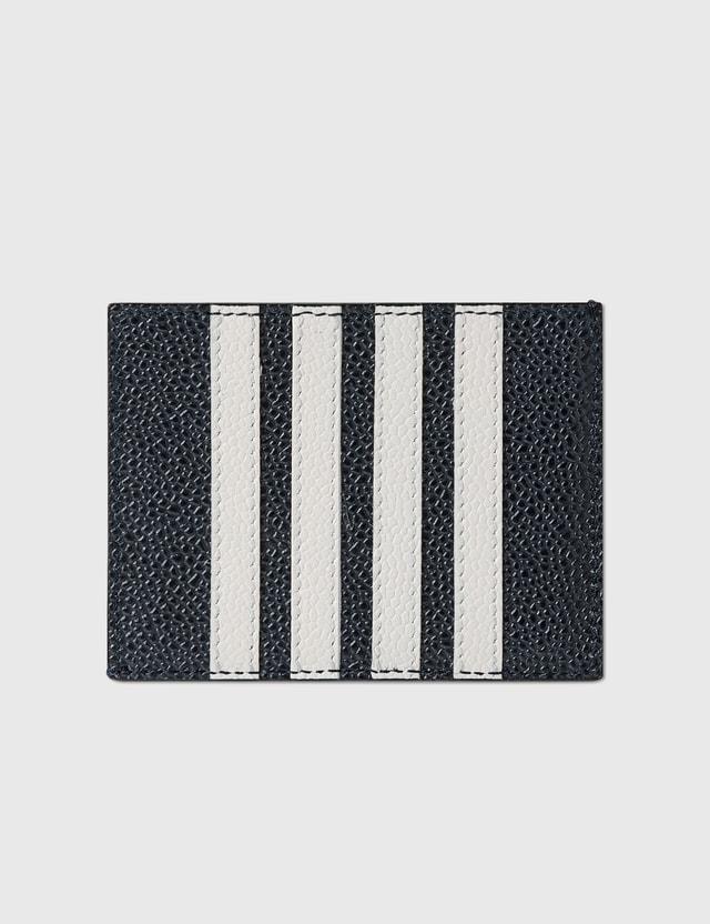 Thom Browne 싱글 카드 홀더 Navy Men