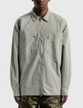 LMC LMC Full Zip Work Shirt Light Gray Men