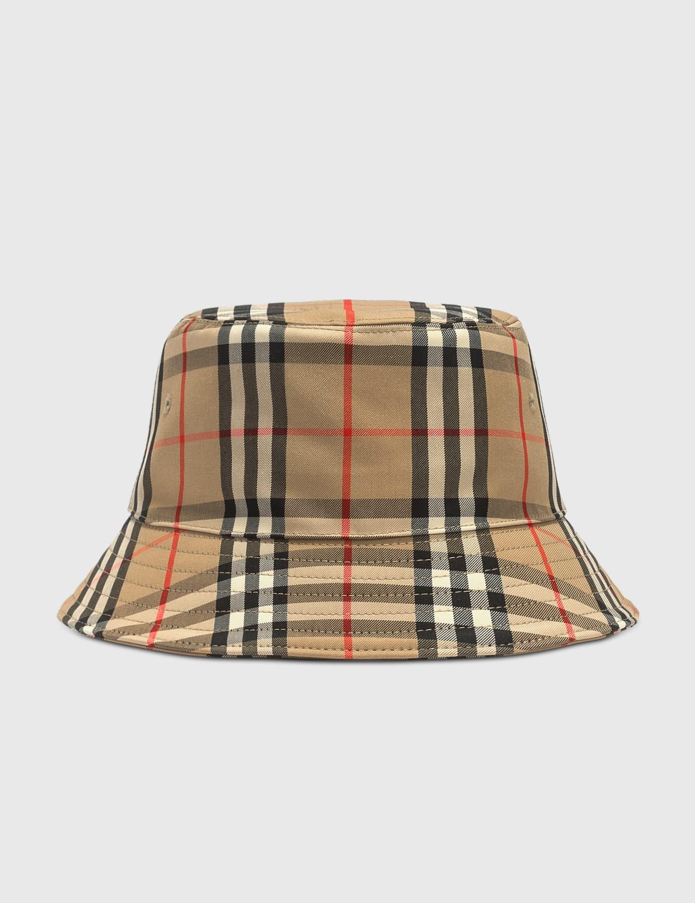 버버리 Burberry Vintage Check Technical Cotton Bucket Hat