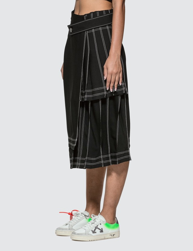 Off-White Multipanel Long Skirt
