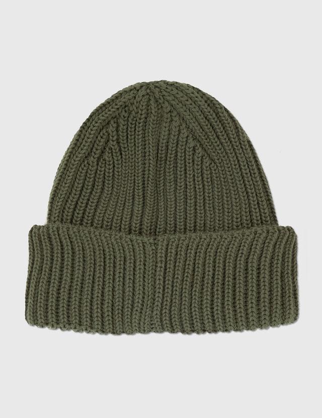 C.P. Company Extra Fine Merino Wool Goggle Beanie Stone Gray Men