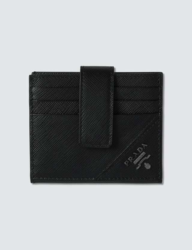 Prada Logo Credit Card Holder