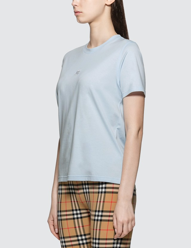 Burberry Embroidered Logo Short Sleeve T-shirt