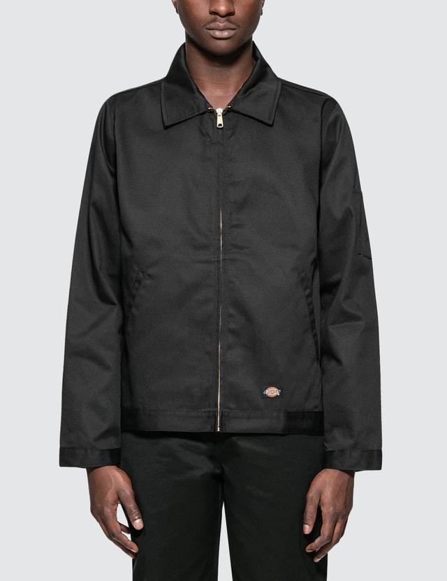 Black dickie work jacket naked girl