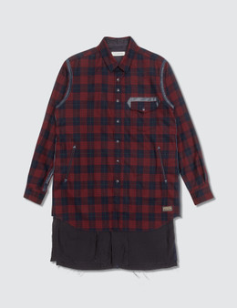 Undercover John Undercover × Pendleton Red Check Shirts