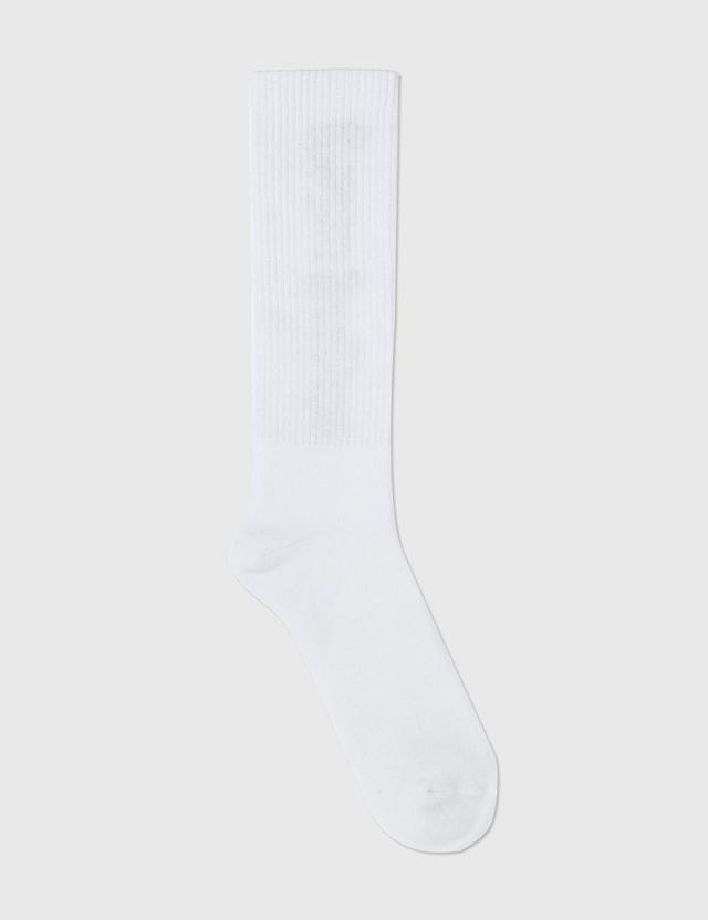 Palm Angels Vertical Logo Socks White Men