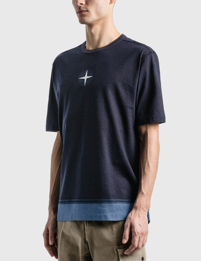 Stone Island Star Logo T-Shirt Bleu Marine Men