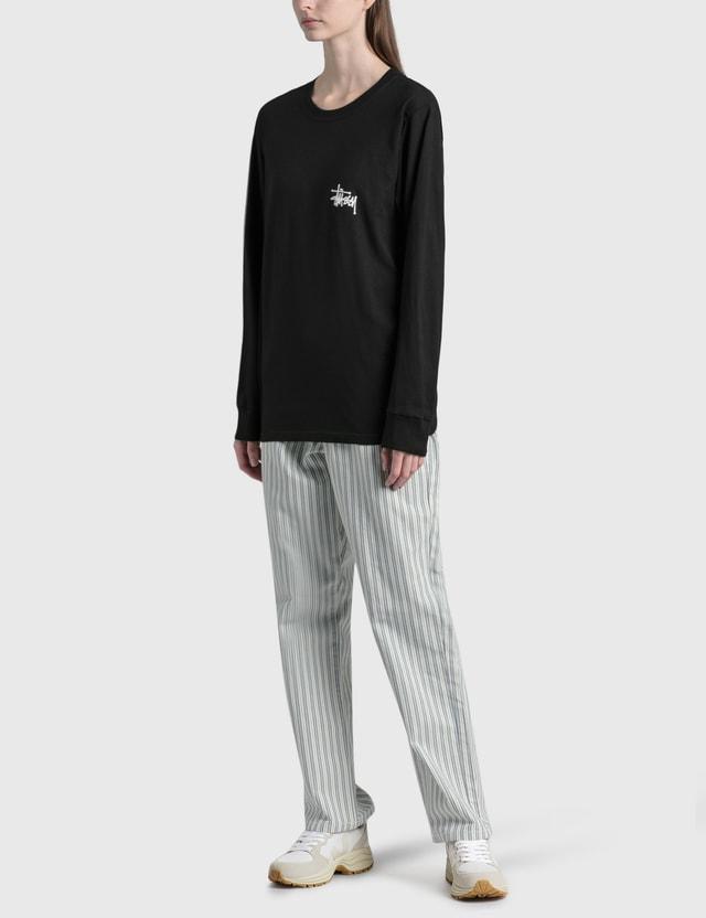 Stussy Basic Stussy Long Sleeve T-Shirt Black Women