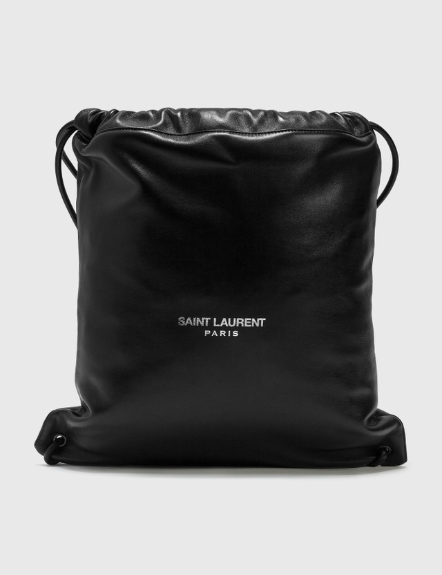 Saint Laurent Teddy Leather Backpack Nero Men