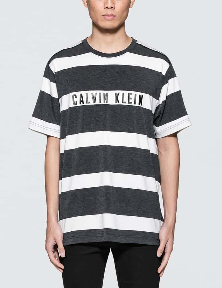 Stripe Print S/S T-Shirt