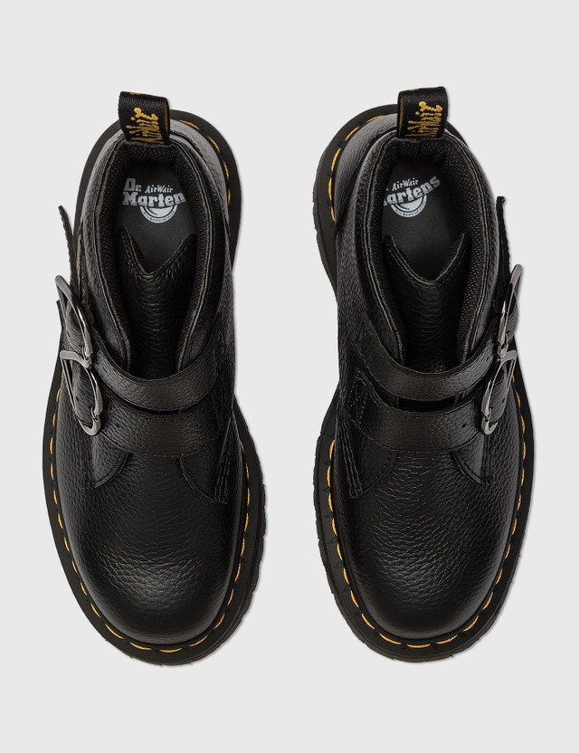 Dr. Martens Devon Heart Leather Boots Black Women
