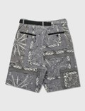 Sacai Dr.Woo Bandana Print Shorts Gray Men