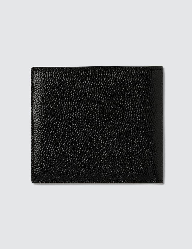 Thom Browne Billfold Wallet In Pebble Grain