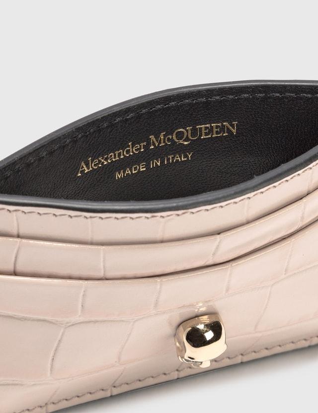 Alexander McQueen Skull Card Holder Flesh Women